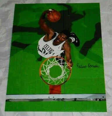 Robert Parish Authentic Autographed Boston Celtics Legend 11x14 Photo W/COA