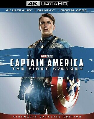 Captain America The First Avenger(4K Ultra+Blu-Ray+Digital Code)W/Slipcover New