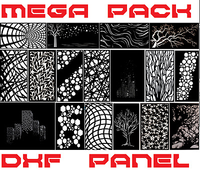 +2000 PANELS metal art collection vector dxf dwg cdr File plasma cut laser CNC