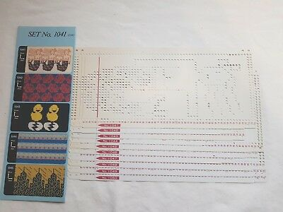 Pc165 Toyota Knitting Machine 1041-1050 Ks901 Ks-901 Punch Card Pattern Set X 10