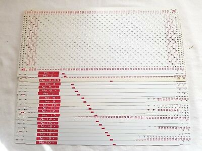 Pc140 Silver Reed Knitting Machine Mod 300-700 Punch Card Patterns Basic Set X20
