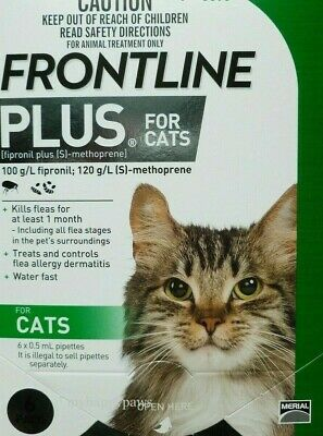 Frontline Plus For Cats 6 MONTHS (Doses) Flea & Tick Control