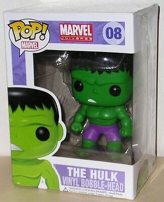 FUNKO POP Marvel 2012 INCREDIBLE HULK #08 FIGURE LARGE LETTERING BOX In Stock