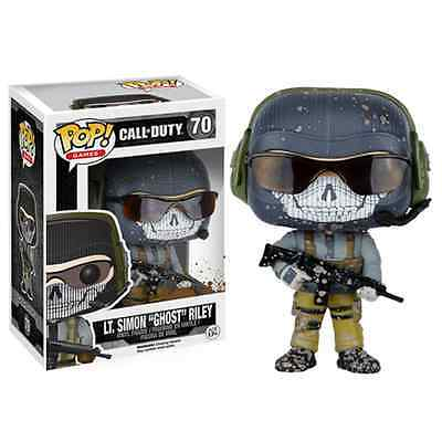 "FUNKO POP GAMES CALL OF DUTY LT. SIMON ""GHOST"" RILEY #70 Vinyl Figure IN STOCK"