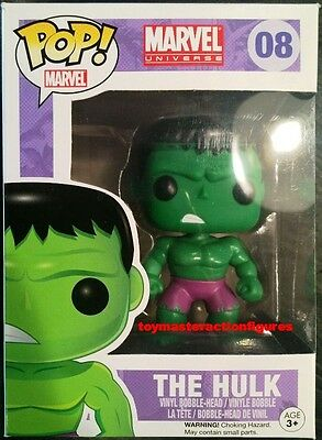 FUNKO POP Marvel THE INCREDIBLE HULK #08  Vinyl Figure Sealed Box IN STOCK NOW!