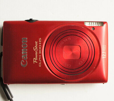 Canon PowerShot ELPH 300 12.1 MP 1080P Red Digital Camera Point & Shoot #2