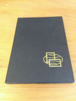 16 Black Pages stamp stock Folio Book with Protective Sheets Hardback Black