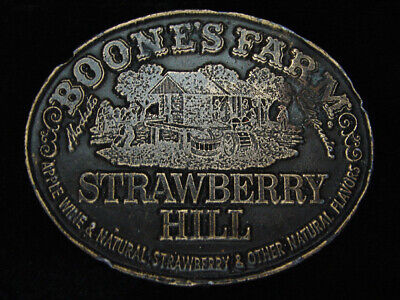 RA03147 VINTAGE 1970s **BOONE'S FARM STARBERRY HILL** BOOZE BELT BUCKLE