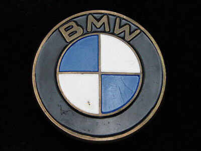 QH05169 VINTAGE 1970s **BMW** CAR COMPANY SOLID BRASS BARON BELT BUCKLE