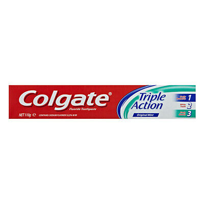 NEW Colgate Toothpaste Triple Action 110g Dental Oral Care Toothpaste