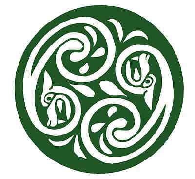 * ST PATRICK/'S DAY VINYL CELTIC KNOT GET YOUR IRISH ON TABLECLOTH LUCKY DOG