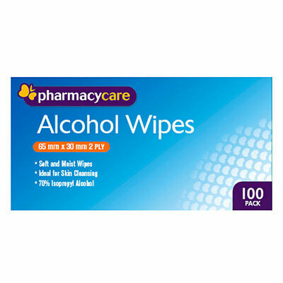 NEW Pharmacy Care Alcohol Wipes - 100 Pack