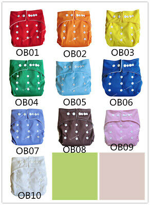 Baby Reusable Cloth Diapers One Size Adjustable Pocket Nappy Covers Inserts