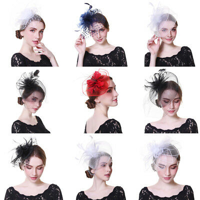 Feather Hair Fascinator on Headband Royal Ascot Races Wedding Bespok Headpieces