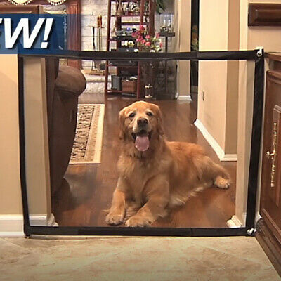 Mesh Magic Pet Dog Gate Safe Guard Install Anywhere Pet Safety Enclosure