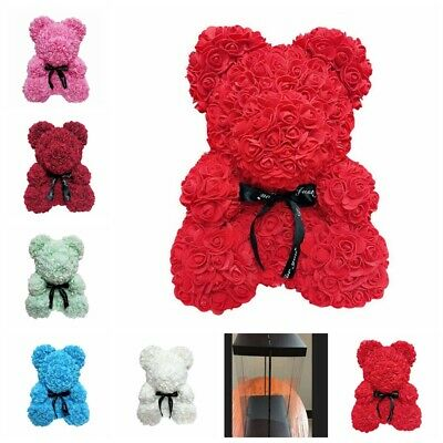 Rose Flower Teddy Bear Gift For Girlfriend Birthday Wedding And Mother's Day