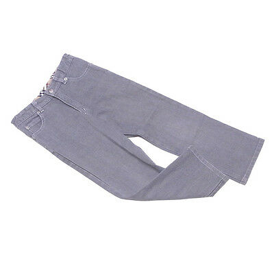 Burberry Jeans denim Grey Silver Boys Authentic Used D1805