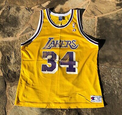 5dc5206a6b7 Vintage NBA Los Angeles Lakers Shaquille O'Neal #34 Champion Jersey Size 52