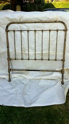 Antique metal framed French single bed frame  single size
