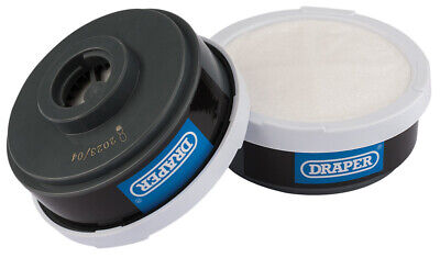Draper 03030 Spare A1P2 Filters (2) for Combined Vapour & Dust Respirator 03030