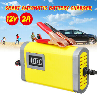Intelligent Car 12V 2A Motorcycle Motorbike Automatic Smart Battery Charger