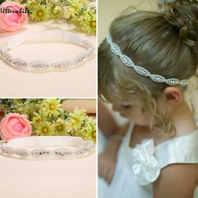 Children Baby Infant Princess Flower Girl Rhinestone Hair Band Headband U8HE 02