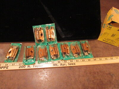 10 NOS PAIRS VINTAGE AMEROCK HARDWARE Hinges Copper A-3042 cabinet Wrought steel