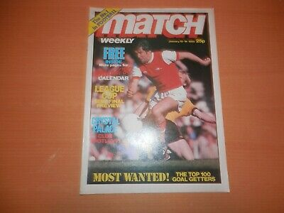 Match Weekly Magazine Jan 10 1980 Crystal Palace League Cup Semi Final Wolves FC
