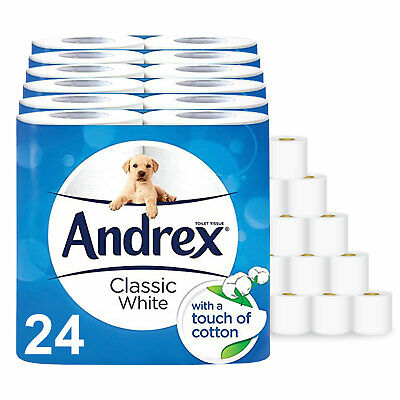 Andrex 2ply Toilet Tissue Roll - Classic Clean (24/48 Rolls)