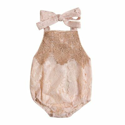 Cute Backless Lace Baby Girls Rompers Newborn Infant Kids Summer Clothes Outfit