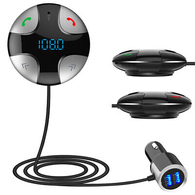 Car FM Transmitter Bluetooth 4.2 Hands-free Wireless MP3 Player&USB Charger Kit
