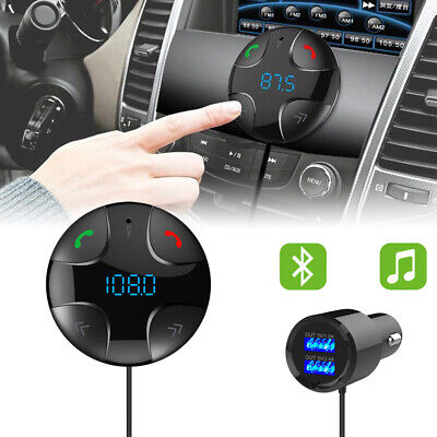 Hands-free Wireless Car FM Transmitter MP3 Player&USB Charger Kit Bluetooth 4.2