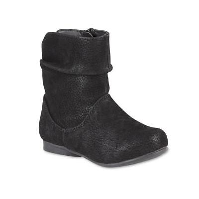 f1a5f08c9 Piper Toddler Girls' Nancy Black Slouch Bootie Boots Size 8 or 9 Medium
