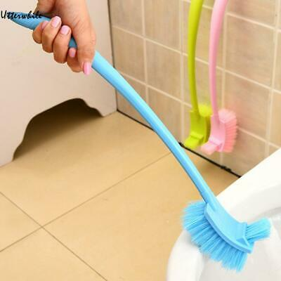 Plastic Long Handle Bathroom Toilet Dead Corner Double Side Cleaning U8HE 02