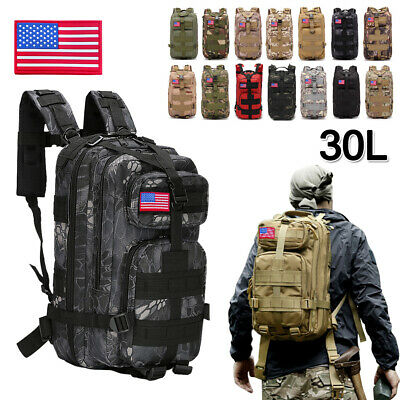 30L Outdoor Military Tactical Rucksack Camping Hiking Trekk Backpack Waterproof