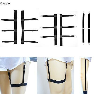 Men's Elastic Nylon Adjustable Shirt Holders Stays Garters Belt U8HE 02
