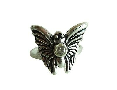 New Stunning Antique Butterfly Solid Fine Silver Finger Women Ring USA Size:5.75