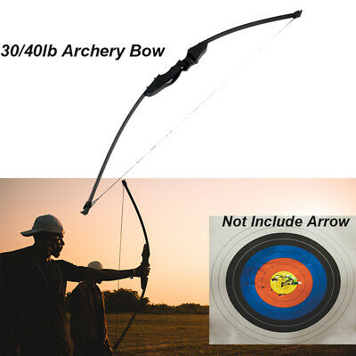 """54"""" 30/40 lbs Archery Hunting Recurve Compound Bow Shooting Longbow Right Handed"""