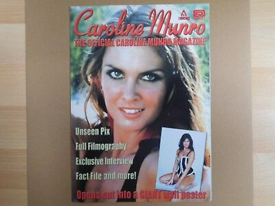 Caroline Munro, Official Magazine. Fold Out Poster, Hammer,first Lady Of Fantasy