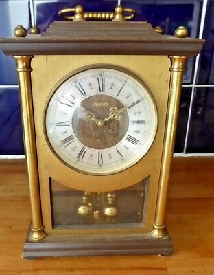 Large Kundo, battery, carriage type clock