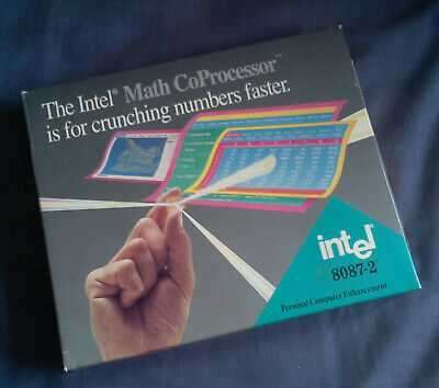 Boxed Intel Math CoProcessor 8087-2, manual Vintage Collectable