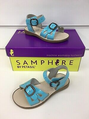Samphire By Petasil Marella Sandal In Sky Blue Patent  (Machine Washable)