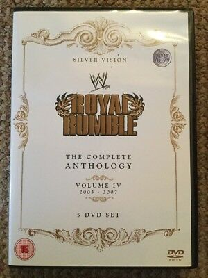 WWE - Royal Rumble Anthology Volume 4 DVD (5 Disc Set) WWF Rare 2003 - 2007