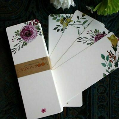 40 PC Set Paper Flower Bookmarks Cute Bookmark Book Marker Stationery Pretty