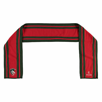 Leicester Tigers Scarf Red/Green Kids Kukri