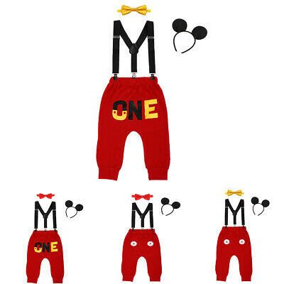 Mickey Mouse 1st Birthday Outfit.Mickey Mouse Cake Smash 1st Birthday Outfits Photo Prop