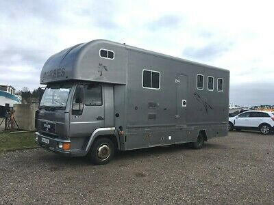 Horse lorry Horsebox MAN 7.5T 1998 3/4 horse with full living