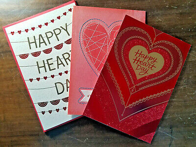 3 VALENTINE'S Greeting Card PACK **VALUE of OVER $16!!** Love Friend