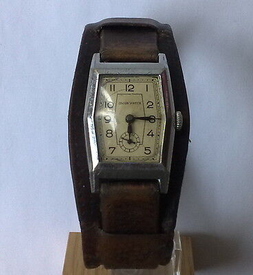 Vintage JACOB mechanical hand winding very old Swiss made Military wrist watch