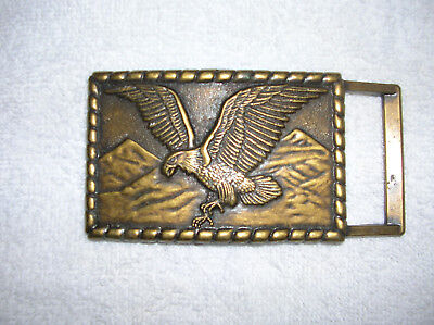 Vintage American Eagle Brass Belt Buckle